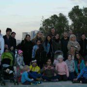 המשפחות והצוות בטיול חנוכה
