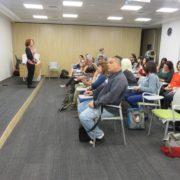אורית שפירא ממשרד החינוך מרצה בכנס